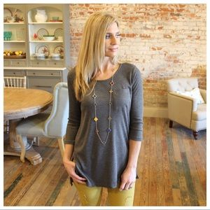 Charcoal thermal knit tunic